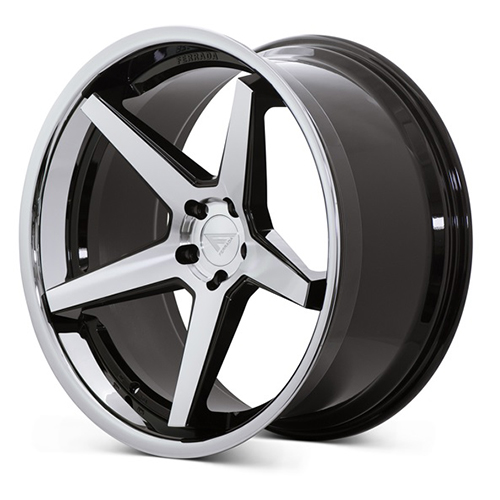 Ferrada Wheels FR3 Machine Black with Chrome Lip