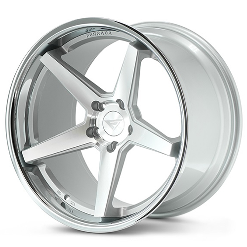 20x9 Ferrada Wheels FR3 Machine Silver with Chrome Lip
