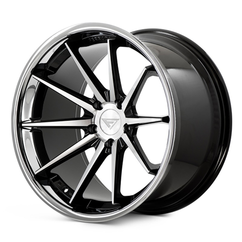 Ferrada Wheels FR4 Machine Black with Chrome Lip