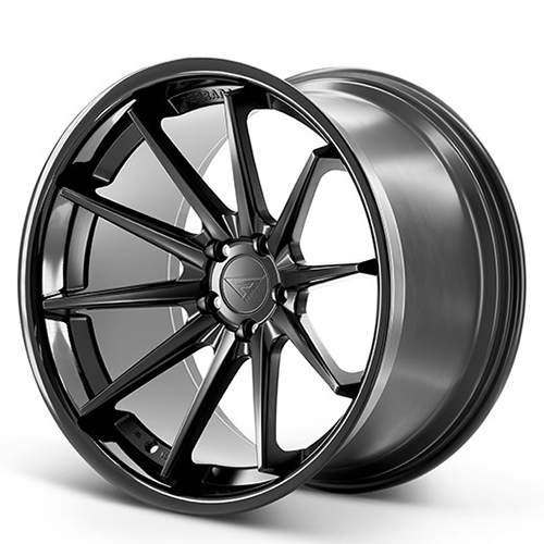 20x10.5 Ferrada Wheels FR4 Matte Black with Gloss Black Lip