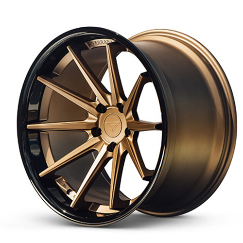 20x9 Ferrada Wheels FR4 Matte Bronze with Gloss Black Lip