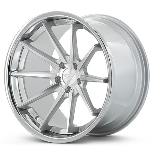 Ferrada Wheels FR4 Machine Silver with Chrome Lip