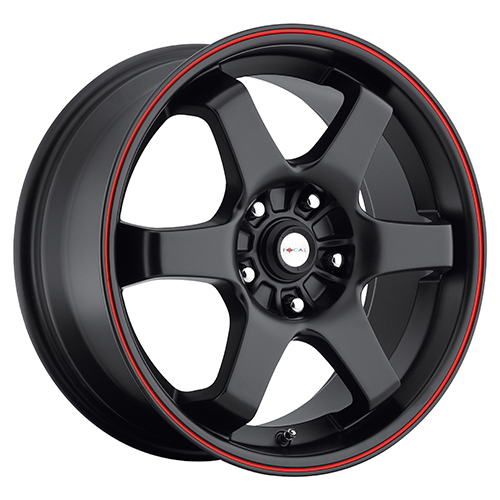 Focal Wheels 421 X Matte Black w/ Red Stripe