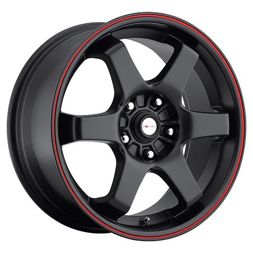 Focal Wheels 421 X Matte Black w/ Red Stripe