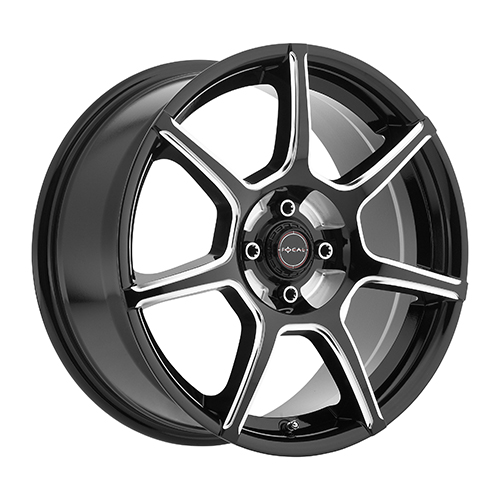 Focal Wheels 422 F-007 Gloss Black w/ Milled Accents