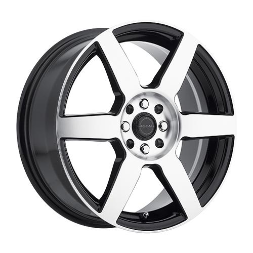 Focal Wheels 444 F-06 Gloss Black w/ Diamond Cut Face