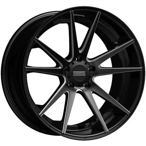 Fondmetal Wheels STC-10 Gloss Black Milled