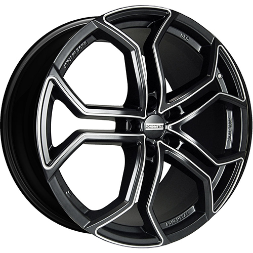 Fondmetal Wheels 9XR Gloss Black with Full Milled Accents
