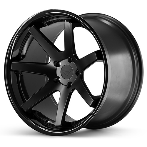 20x9 Ferrada Wheels FR1 Matte Black Gloss Black Lip