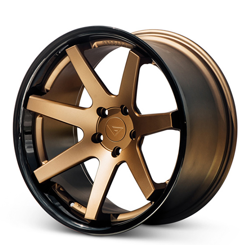 20x10.5 Ferrada Wheels FR1 Matte Bronze Gloss Black Lip