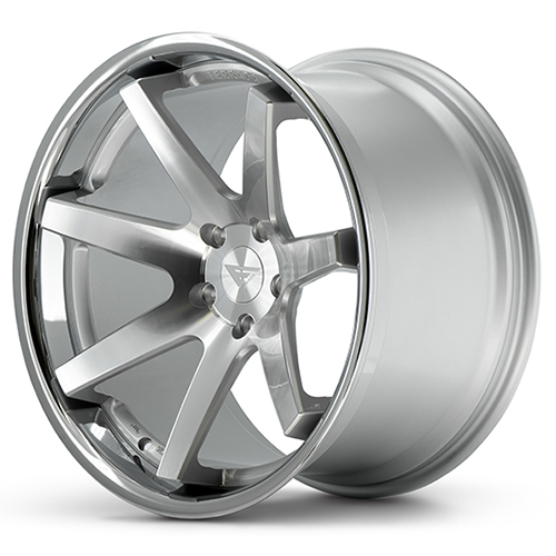 20x11.5 Ferrada Wheels FR1 Machine Silver Chrome Lip