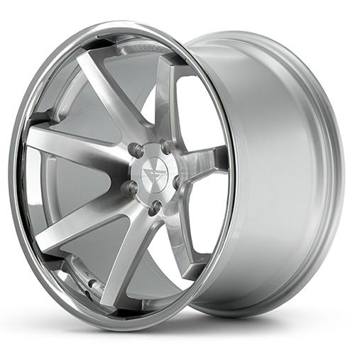 Ferrada Wheels FR1 Machine Silver Chrome Lip
