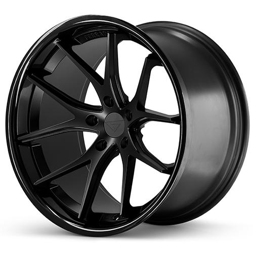 Ferrada Wheels FR2 Matte Black Gloss Black Lip