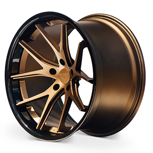 20x11.5 Ferrada Wheels FR2 Matte Bronze Gloss Black Lip