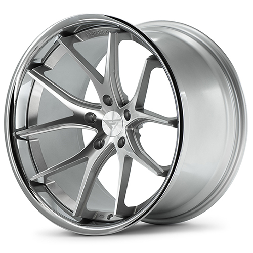 20x9 Ferrada Wheels FR2 Machine Silver Chrome Lip