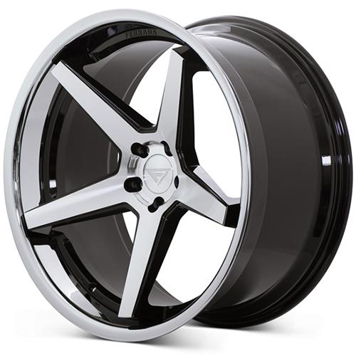 Ferrada Wheels FR3 Machine Black Chrome Lip