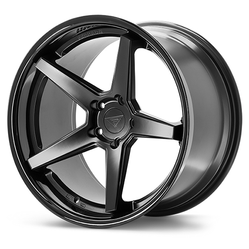 20x9 Ferrada Wheels FR3 Matte Black Gloss Black Lip