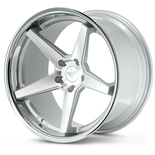 20x9 Ferrada Wheels FR3 Machine Silver Chrome Lip