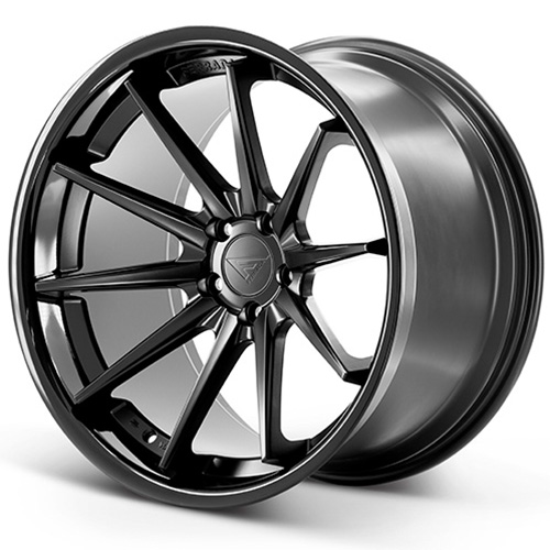 20x10.5 Ferrada Wheels FR4 Matte Black Gloss Black Lip