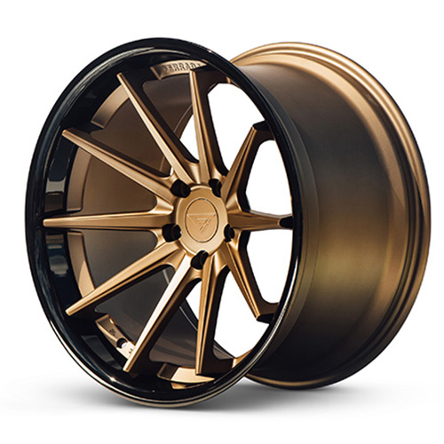 20x9 Ferrada Wheels FR4 Matte Bronze Gloss Black Lip