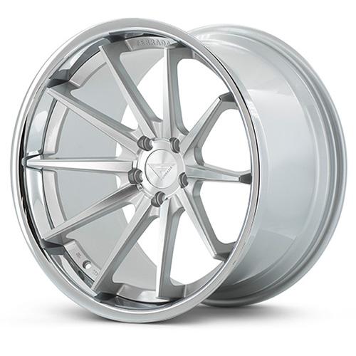Ferrada Wheels FR4 Machine Silver Chrome Lip