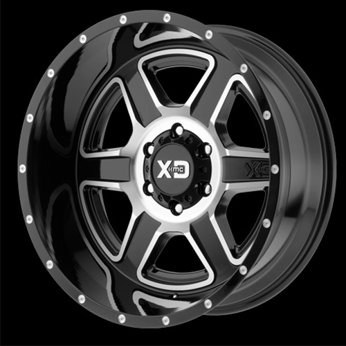XD Series by KMC Wheels Fusion Gloss Black Machined