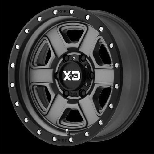 XD Series by KMC Wheels Fusion Off-Road Satin Gray With S-Blk Lip