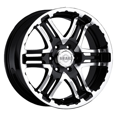 Gear Alloy Offroad Wheels Double Pump Machined Face Gloss Black