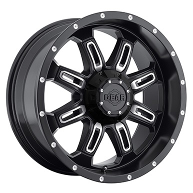 Gear Alloy Offroad Wheels Dominator Satin Black Machined