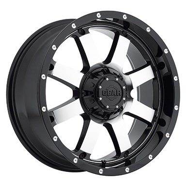 Gear Alloy Offroad Wheels Big Block Gloss Black Machined Face