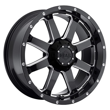 Gear Alloy Offroad Wheels Big Block Gloss Black Milled