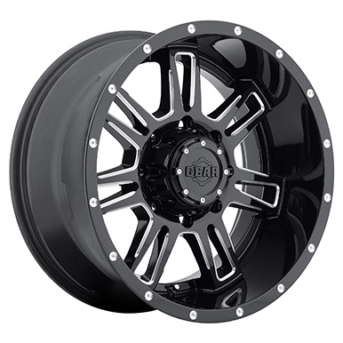 Gear Alloy Offroad Wheels Challenger Gloss Black Milled