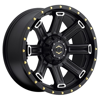 Gear Alloy Offroad Wheels Switchback Satin Black Machined Spoke
