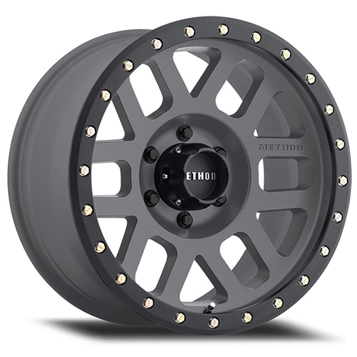 Method Race Wheels Grid Titanium with Black Street Loc
