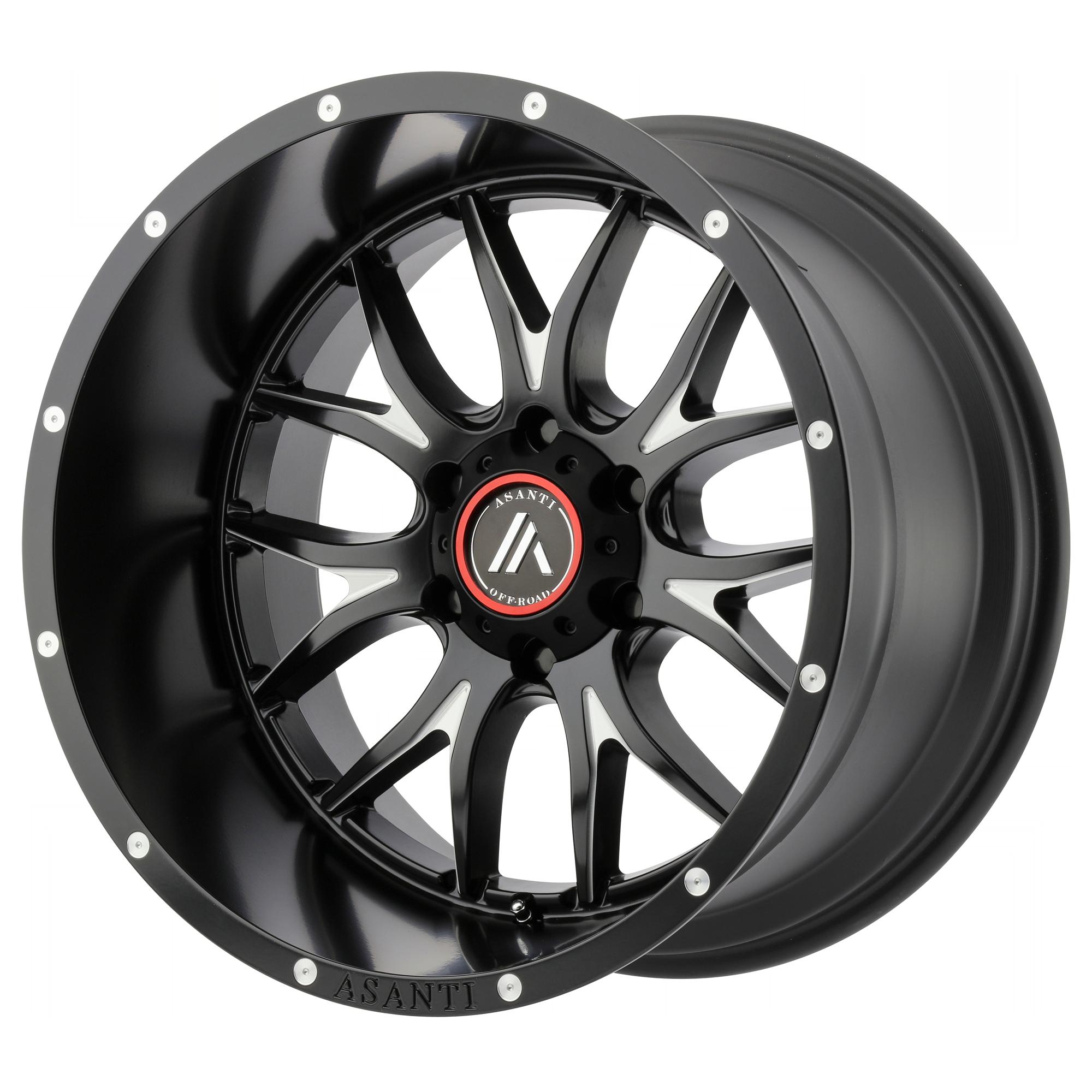 Asanti Off-Road Wheels AB807 Satin Black Milled