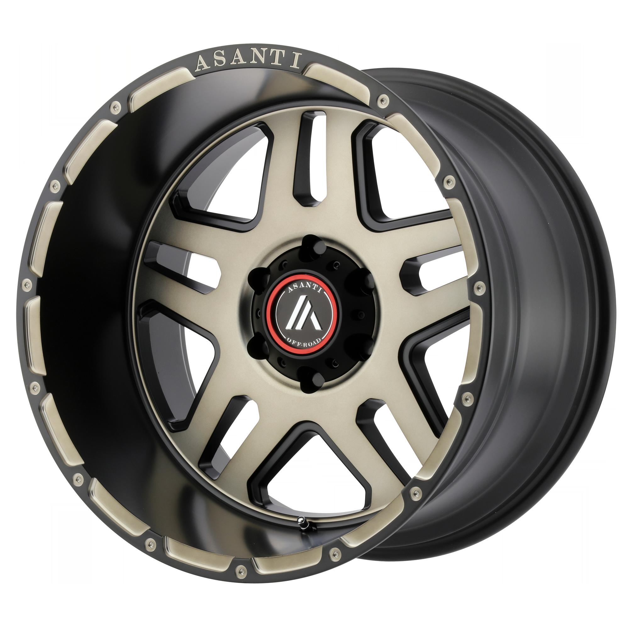 Asanti Off-Road Wheels AB809 Matte Black Machined w/ Tinted Clear