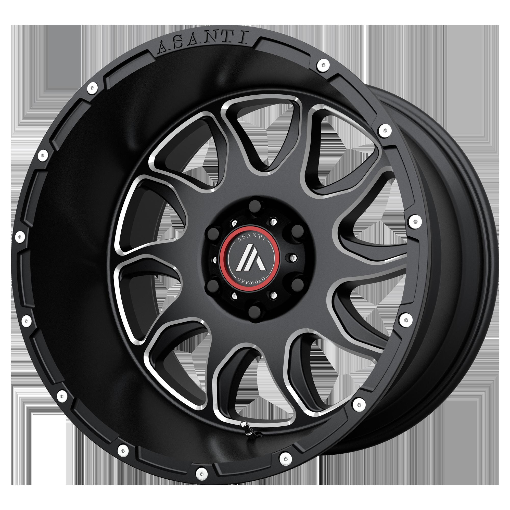 Asanti Off-Road Wheels AB810 Gloss Black Milled