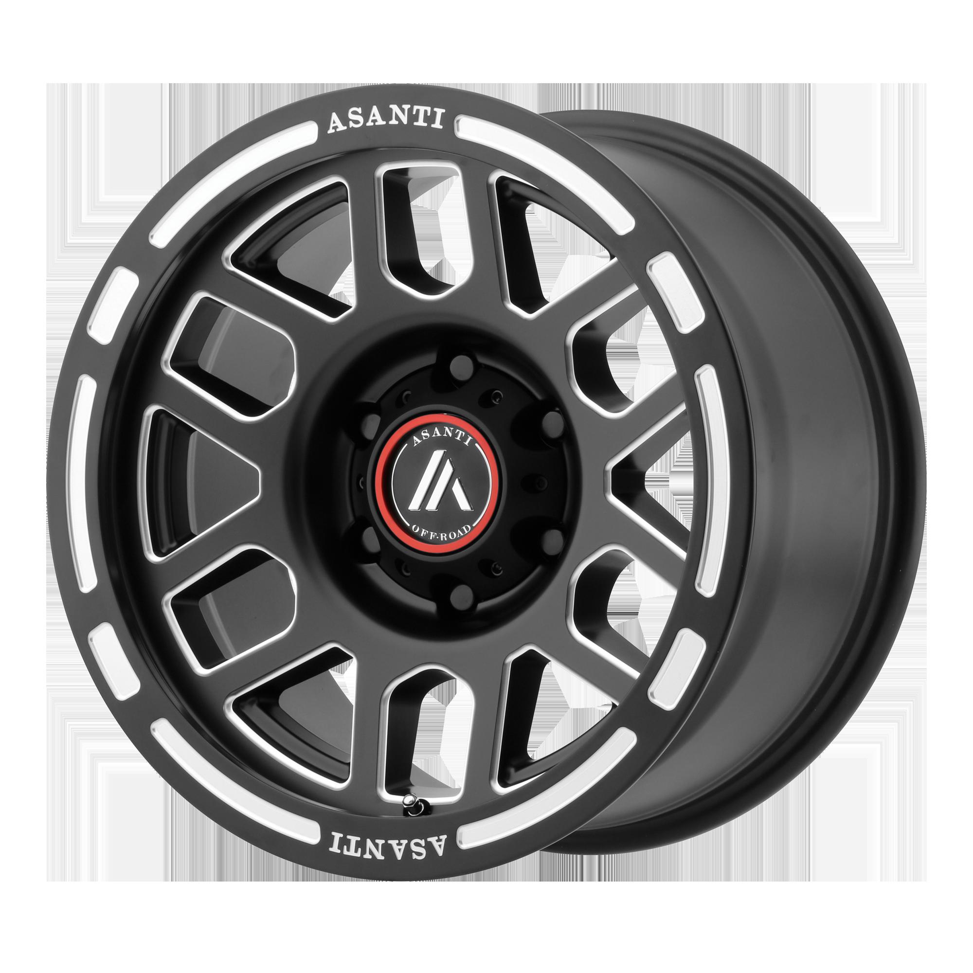 Asanti Off-Road Wheels AB812 Satin Black Milled