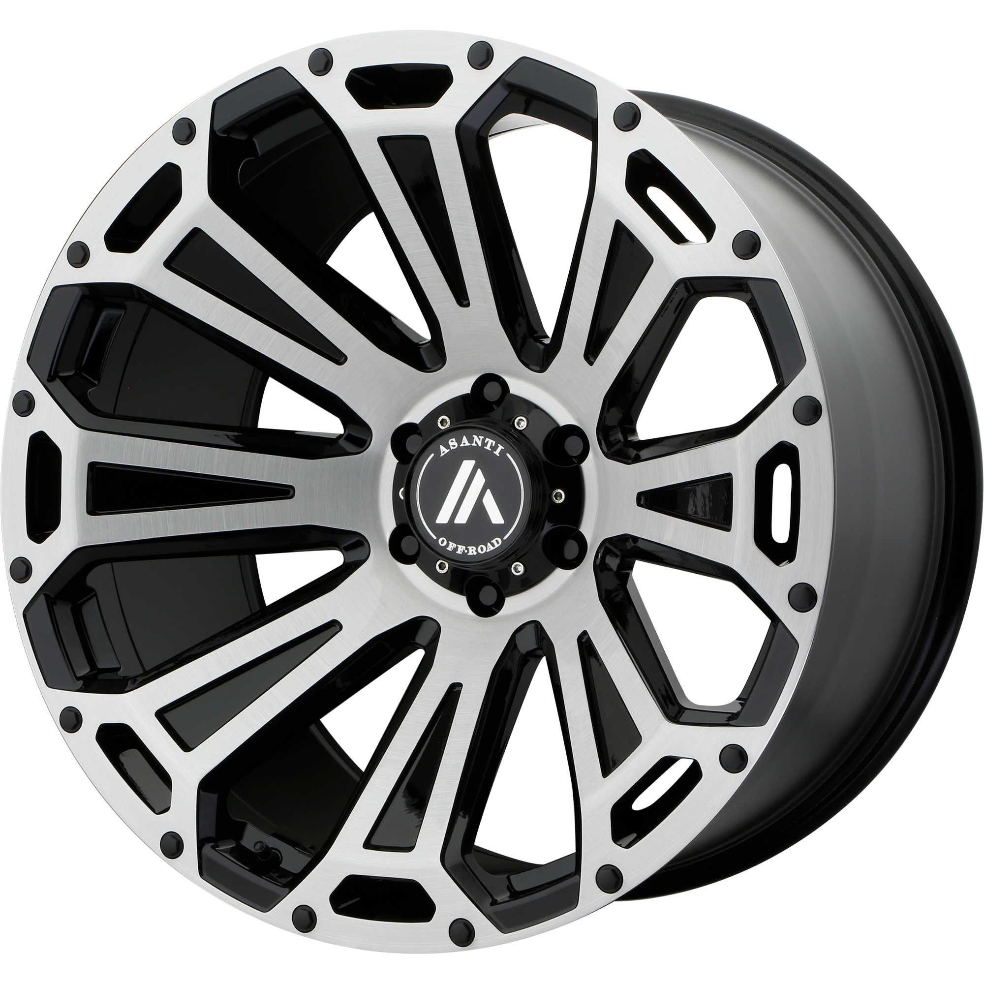 22x10 Asanti Off-Road Wheels AB813 Black-Brushed