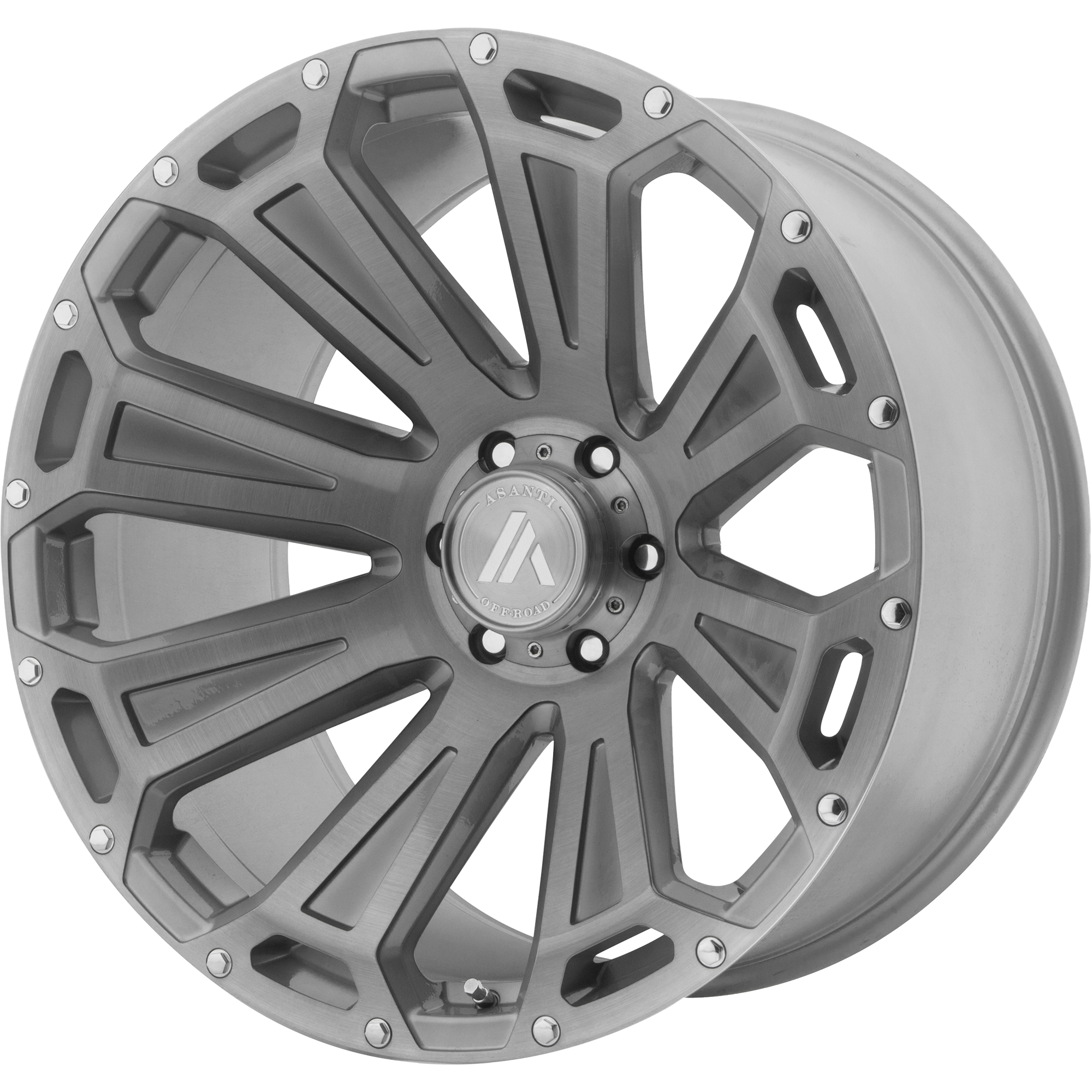 22x10 Asanti Off-Road Wheels AB813 Titanium-Brushed