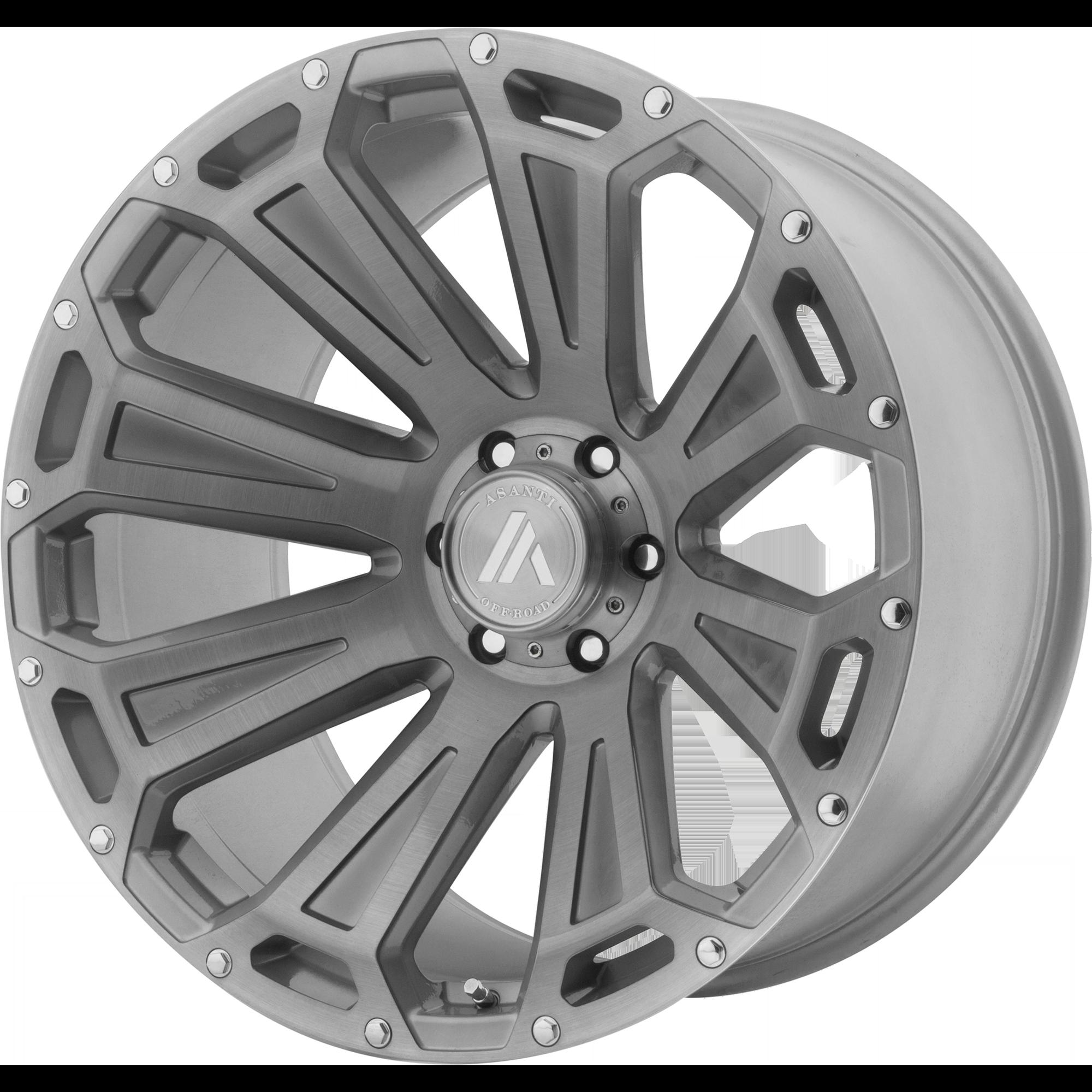 Asanti Off-Road Wheels AB813 Titanium-Brushed