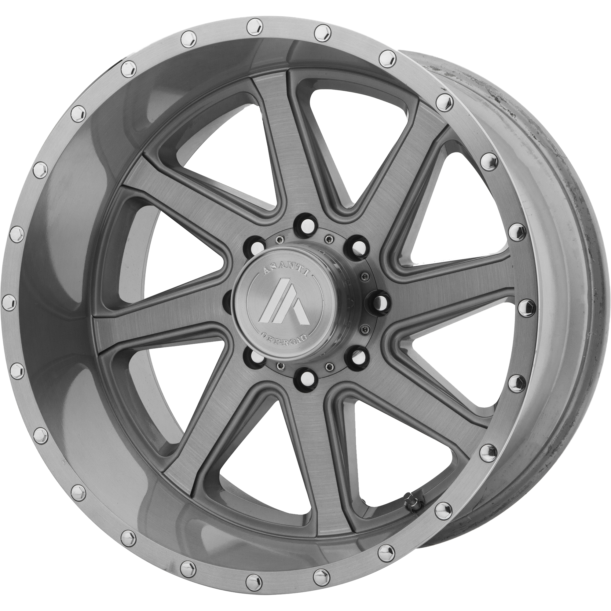 Asanti Off-Road Wheels AB814 Titanium-Brushed