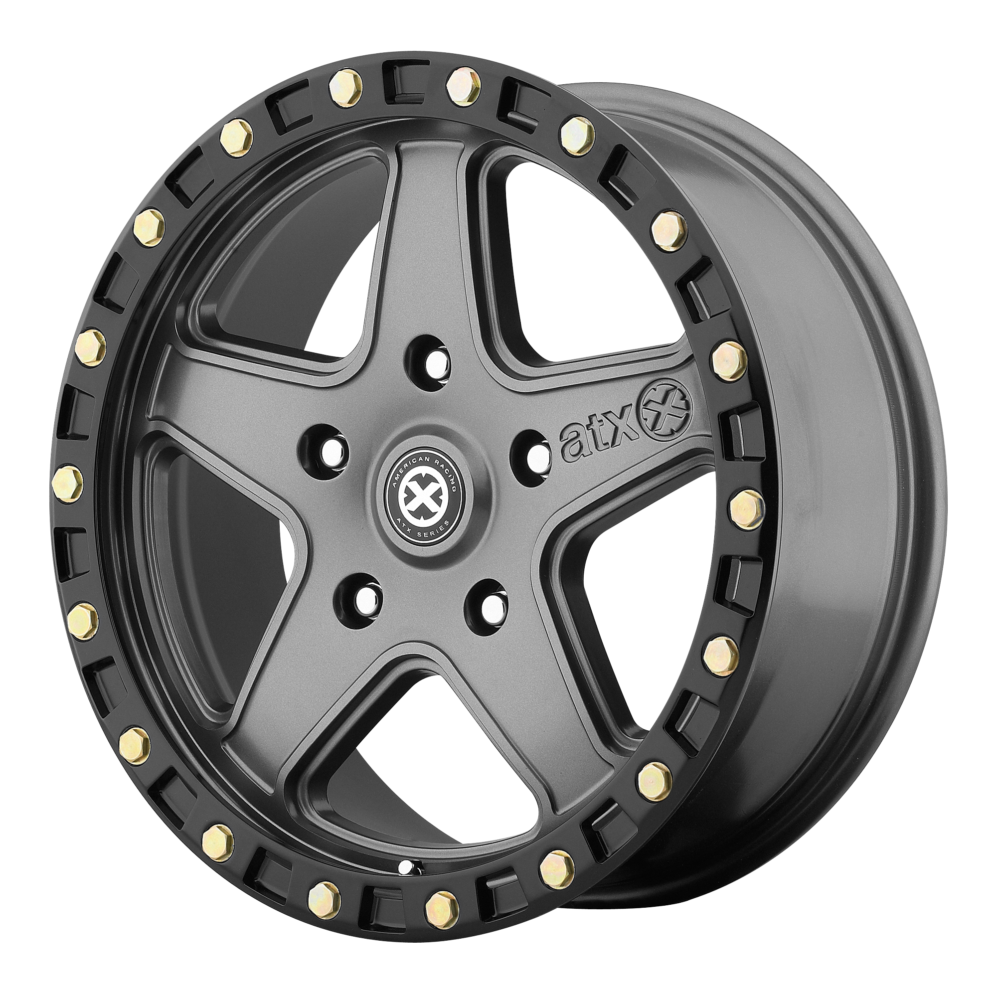 ATX Series Offroad Wheels RAVINE Matte Gray w/ Black RING