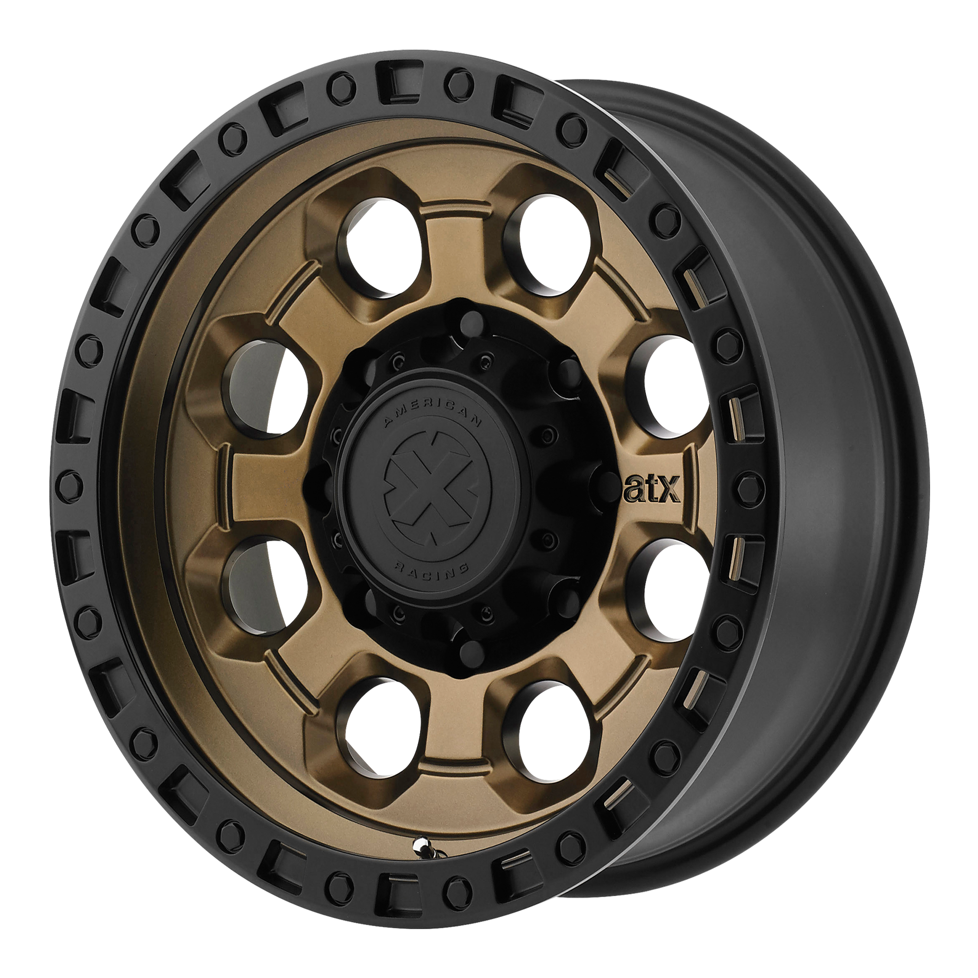 ATX Series Offroad Wheels AX201 Matte Bronze w/ Black Lip