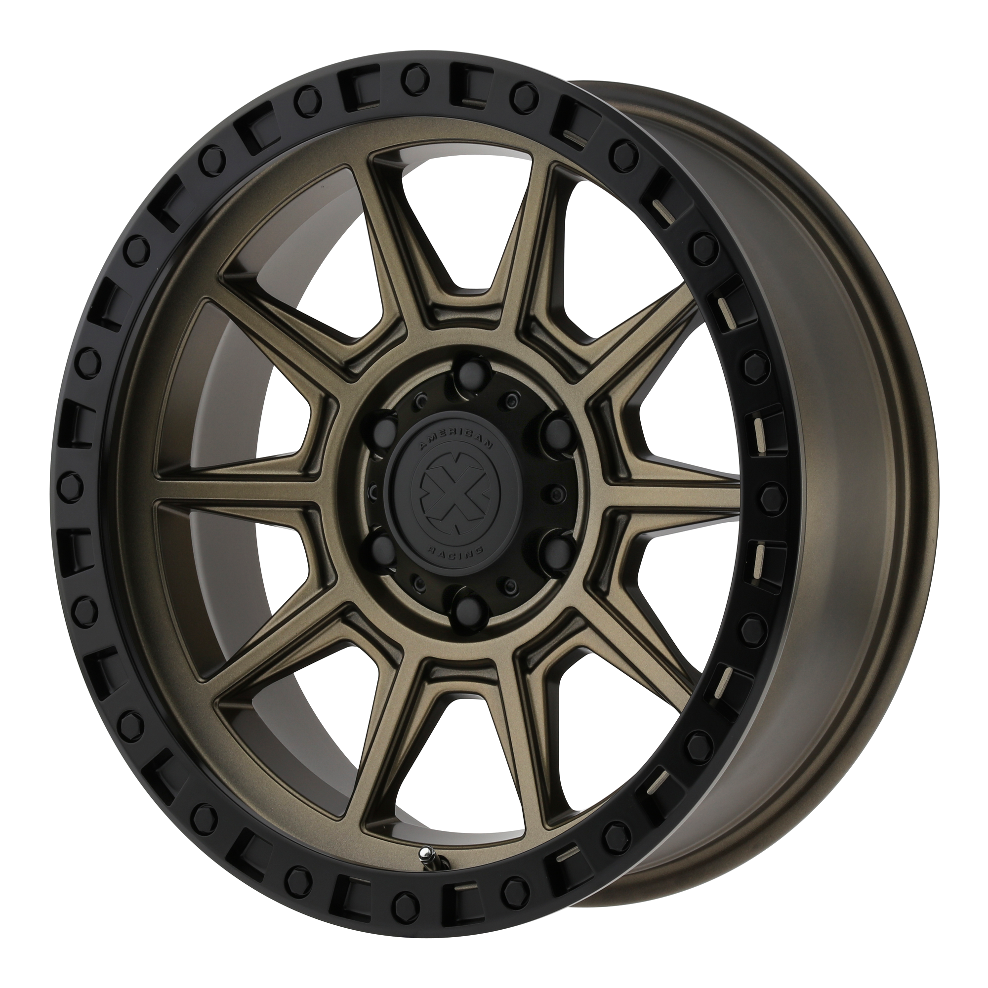 ATX Series Offroad Wheels AX202 Matte Bronze w/ Black Lip
