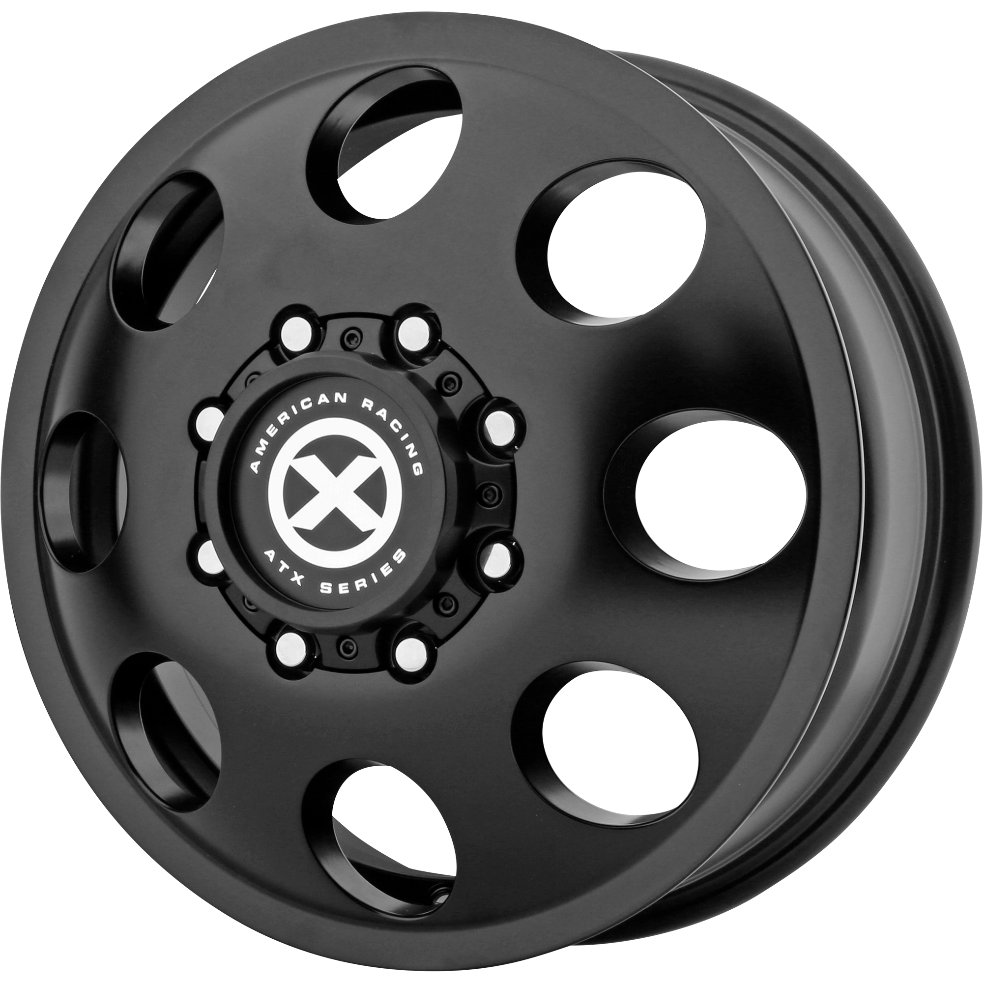 ATX Series Offroad Wheels BAJA DUALLY Satin Black - FRONT