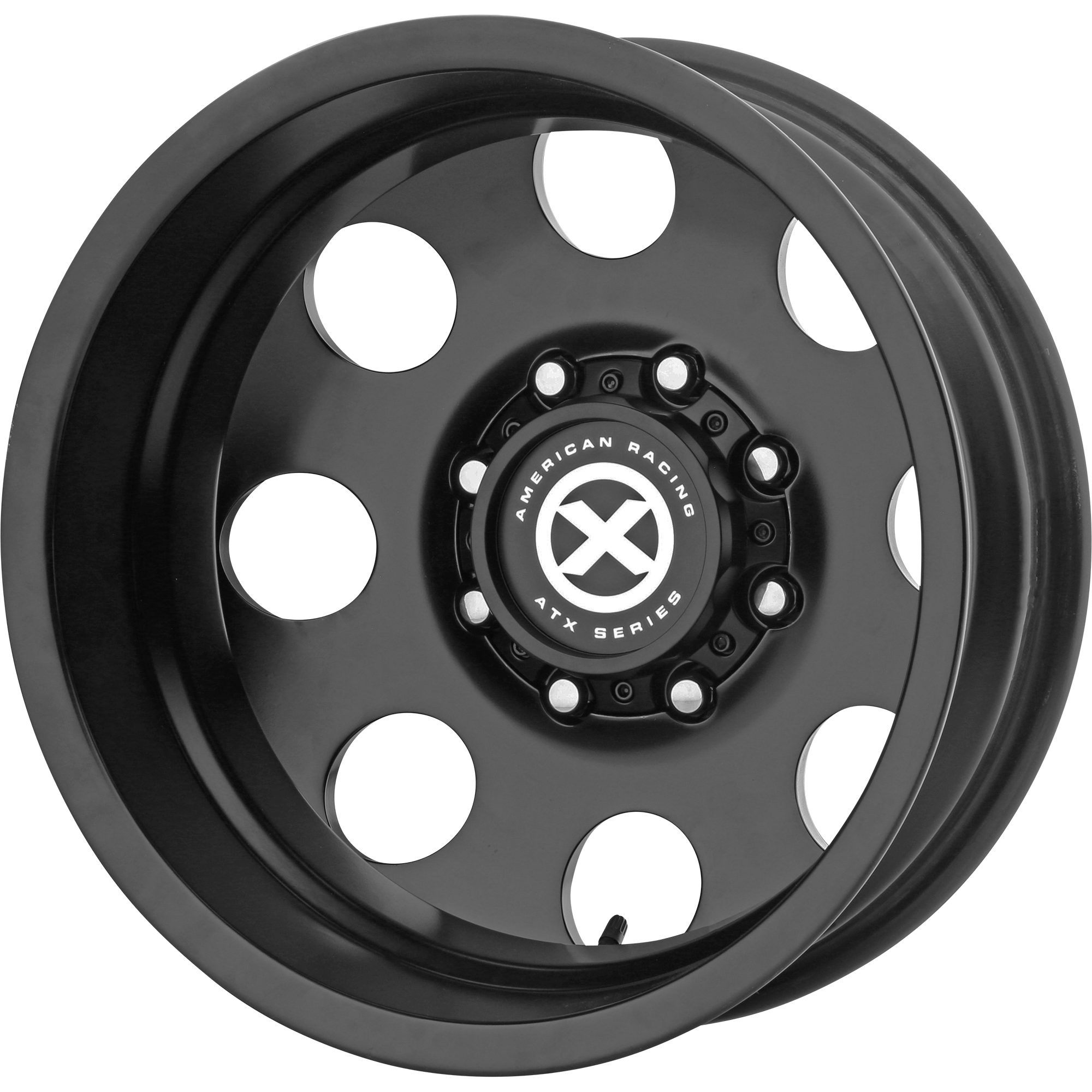 ATX Series Offroad Wheels BAJA DUALLY Satin Black - REAR