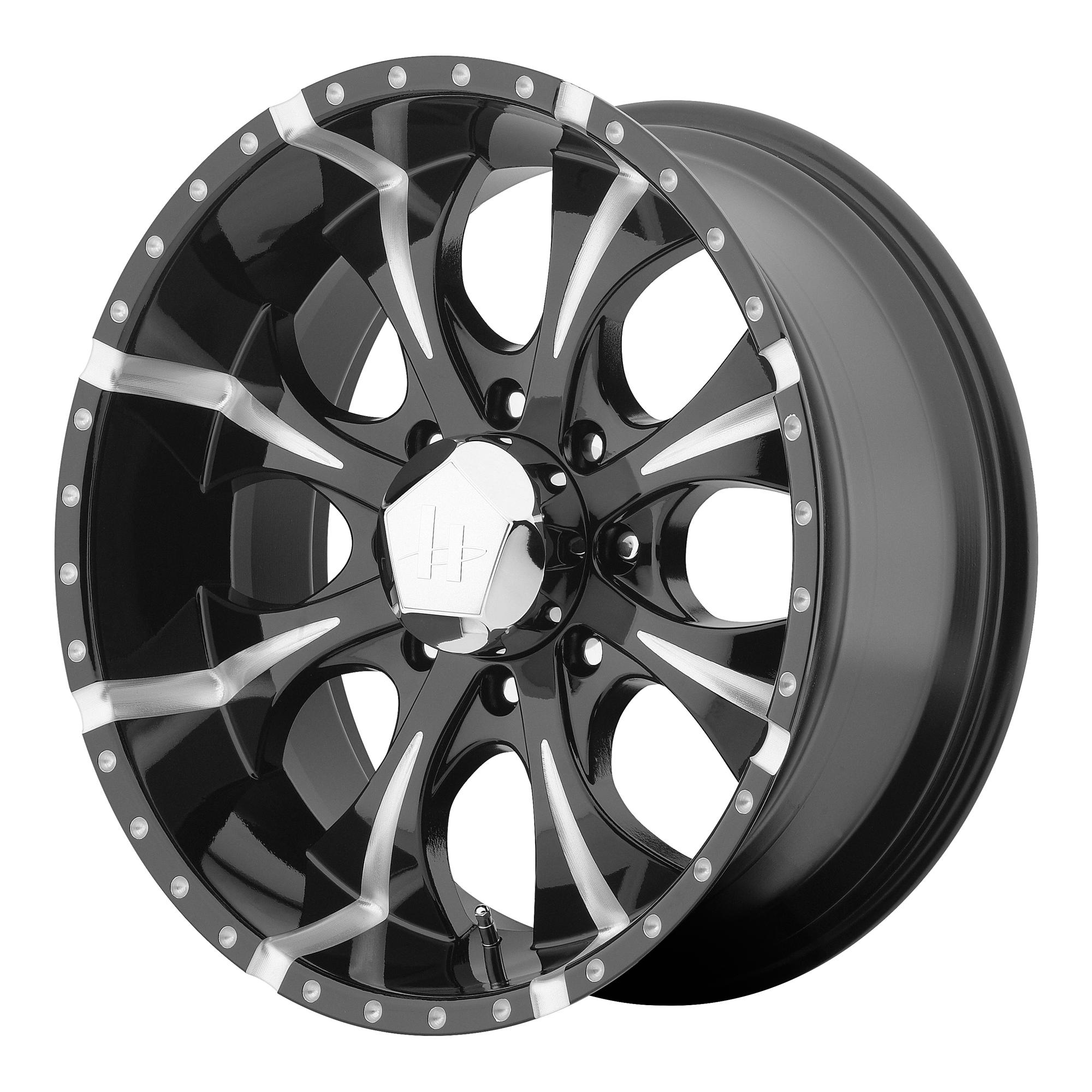 Helo Wheels MAXX Gloss Black Milled