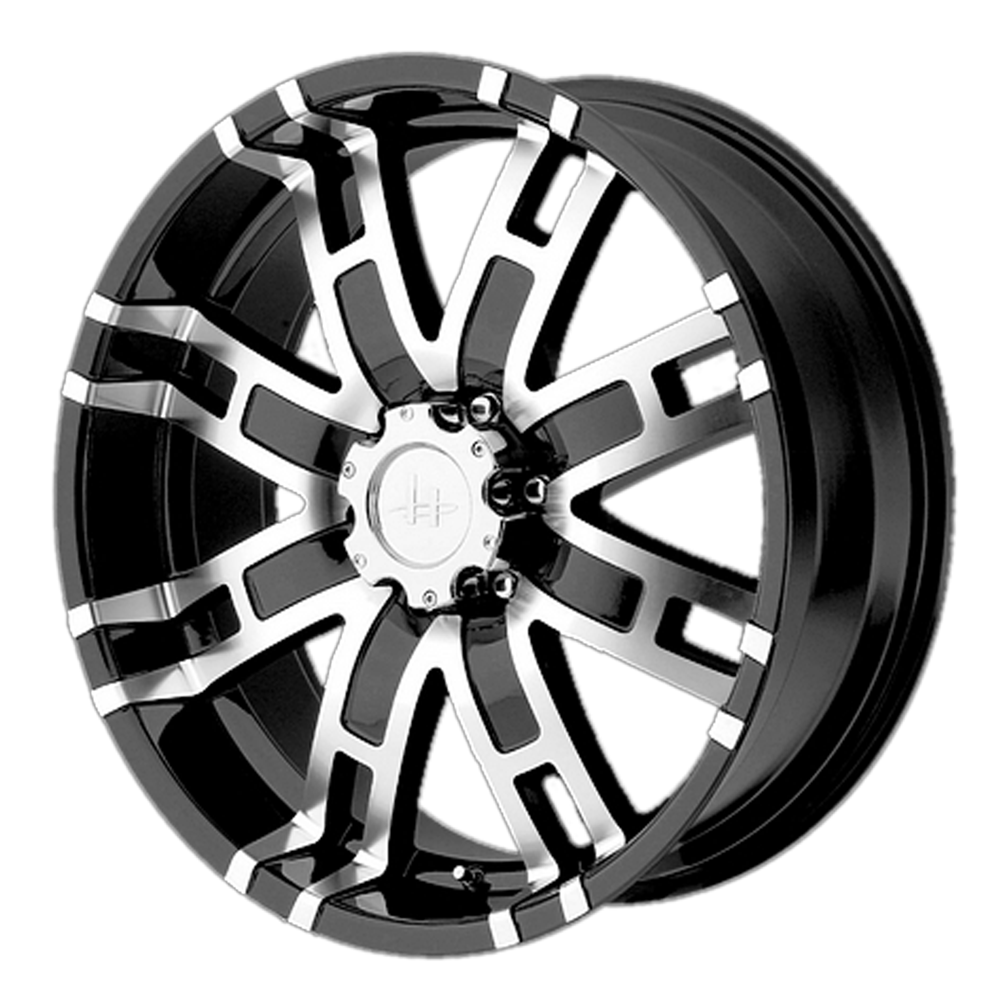 Helo Wheels HE835 Gloss Black Machined