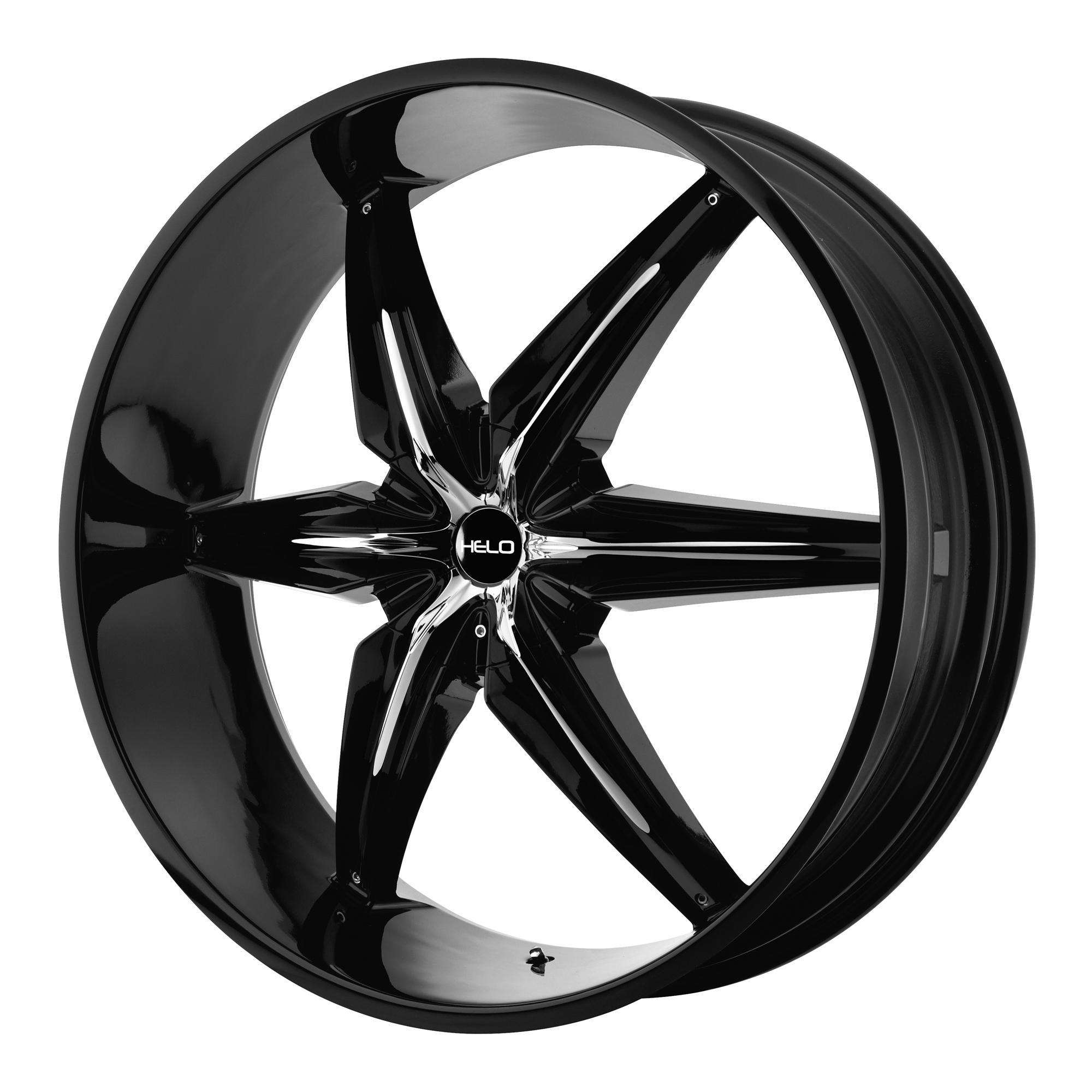 Helo Wheels HE866 Gloss Black w/ Chrome Accents